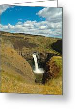 A Peak Of Palouse Falls Greeting Card by Jeff  Swan