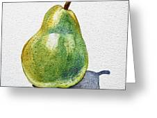 A Pear Greeting Card by Irina Sztukowski