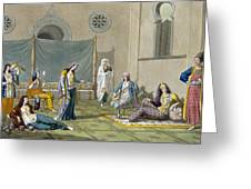 A Persian Harem, From Le Costume Ancien Greeting Card by G. Bramati