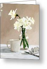 A Pint Of Daffodils Greeting Card by Sandra Chase