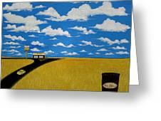 A Prairie Sky Greeting Card by John Lyes