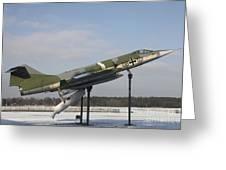 A Preserved F-104g Starfighter Greeting Card by Timm Ziegenthaler