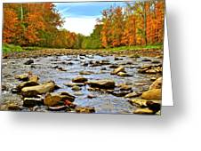 A River Runs Through It Greeting Card by Frozen in Time Fine Art Photography