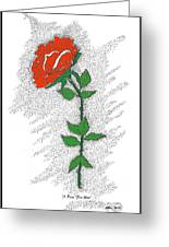 A Rose For You Greeting Card by Glenn McCarthy Art and Photography