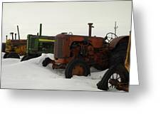 A Row Of Relics Greeting Card by Jeff  Swan
