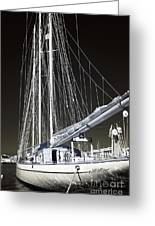 A Sailboat In Marseille Greeting Card by John Rizzuto