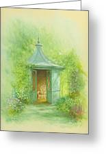 A Seat In The Summerhouse Greeting Card by Garry Walton