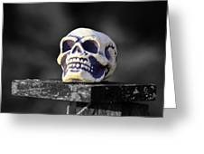A Skull Greeting Card by Toppart Sweden