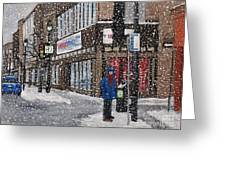 A Snowy Day On Wellington Greeting Card by Reb Frost