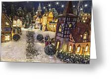 A Snowy Evening Greeting Card by Caitlyn  Grasso