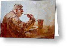 A Soupe Break At Tim Hortons Greeting Card by Ylli Haruni