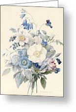 A Spray Of Summer Flowers Greeting Card by Louise D Orleans