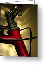 A Study In Scarlet Bicycle Greeting Card by Guy Ricketts