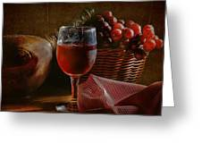A Taste Of The Grape Greeting Card by David and Carol Kelly