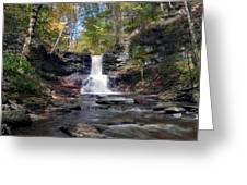 A Touch Of Autumn At Sheldon Reynolds Falls Greeting Card by Gene Walls