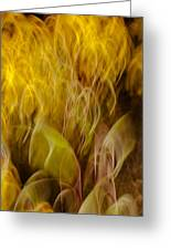 Swirls Of Light  Greeting Card by Mahmoud FineArt