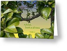 A True Friend Greeting Card by Larry Bishop