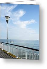 a View from Pier Greeting Card by Svetlana Sewell