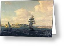 A View Of Constantinople Greeting Card by Michael Zeno Diemer