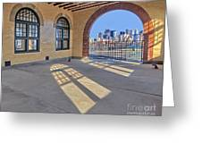 A View To Nyc Greeting Card by Susan Candelario