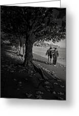 A Walk In The Park Greeting Card by Antonio Jorge Nunes