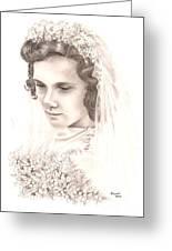 A War Bride Greeting Card by Manon  Massari