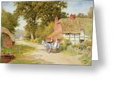 A Warwickshire Lane Greeting Card by Arthur Claude Strachan
