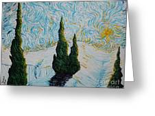 A White Day Greeting Card by Stefan Duncan