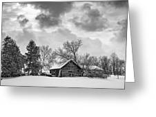 A Winter Sky Monochrome Greeting Card by Steve Harrington