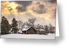 A Winter Sky Greeting Card by Steve Harrington