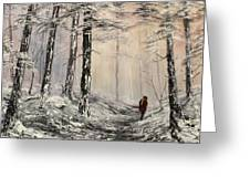 A Winter Walk Greeting Card by Jean Walker