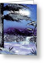 A Winters Valley Greeting Card by Marc Chambers