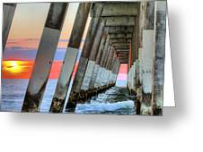 A Wrightsville Beach Morning Greeting Card by JC Findley