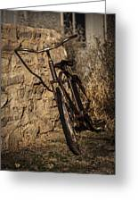 Abandoned Bicycle Greeting Card by Amber Kresge