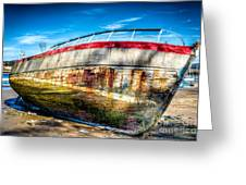 Abandoned Boat Greeting Card by Adrian Evans
