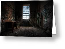 Abandoned Building - Old Room - Room With A Desk Greeting Card by Gary Heller