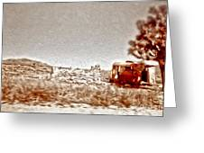Abandoned Desert Trailer Greeting Card by Gregory Dyer