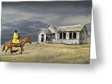 Abandoned Homestead-eastern Idaho Greeting Card by Paul Krapf