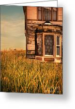 Abandoned House In Grass Greeting Card by Jill Battaglia