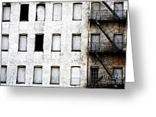 Abandoned In Asbury Park Greeting Card by John Rizzuto