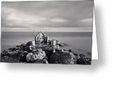 Abandoned Pier Greeting Card by Adam Romanowicz