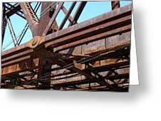 Abandoned - Whitford Railroad Bridge Greeting Card by Richard Reeve