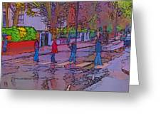 Abbey Road Crossing Greeting Card by Chris Thaxter