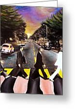 Abbey Road Greeting Card by Steve Will