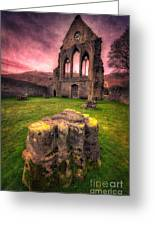 Abbey Ruin Greeting Card by Adrian Evans