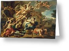 Abduction Of Orithyia Greeting Card by Francesco Solimen