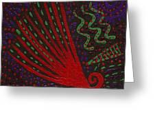 Aboriginal Vibes Greeting Card by Vicki Maheu