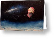 Above Alien Clouds Greeting Card by Murphy Elliott