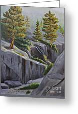 Above The Gorge Greeting Card by Cheryl Bloomfield
