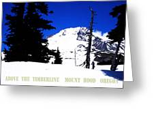 ABOVE THE TIMBERLINE  MT HOOD  OREGON Greeting Card by Glenna McRae